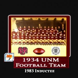 1934 UNM FOOTBALL TEAM - LARGE